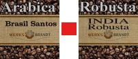 Werksbrandt Kaffeerösterei - Basismischung Arabica + Robusta