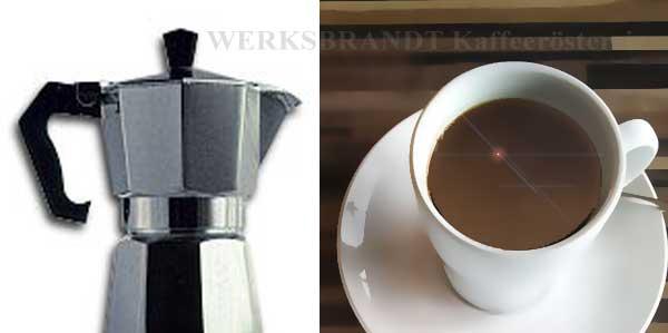 WERKSBRANDT Kaffeerösterei - Empfehlung - Moka / Espressokocher