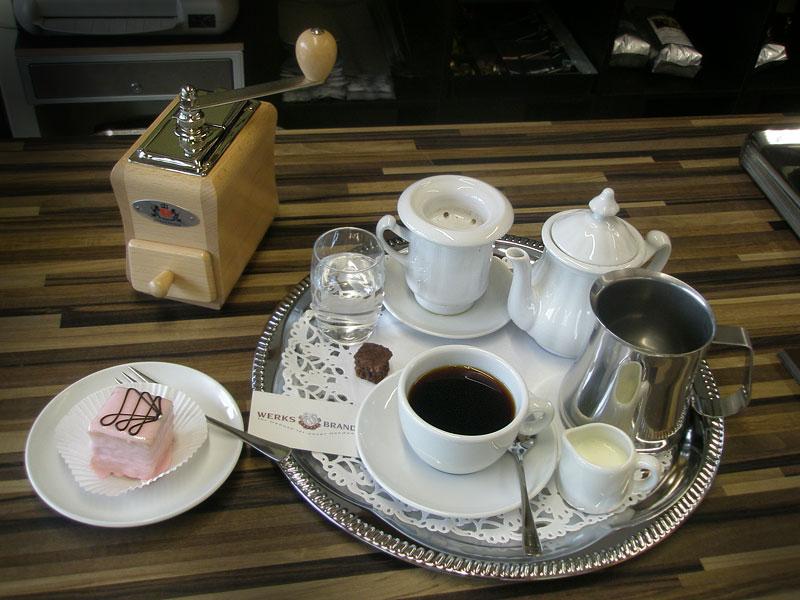 WERKSBRANDT Kaffeerösterei - Kaffeeladen am Dorfweiher - Karlsbader Kanne