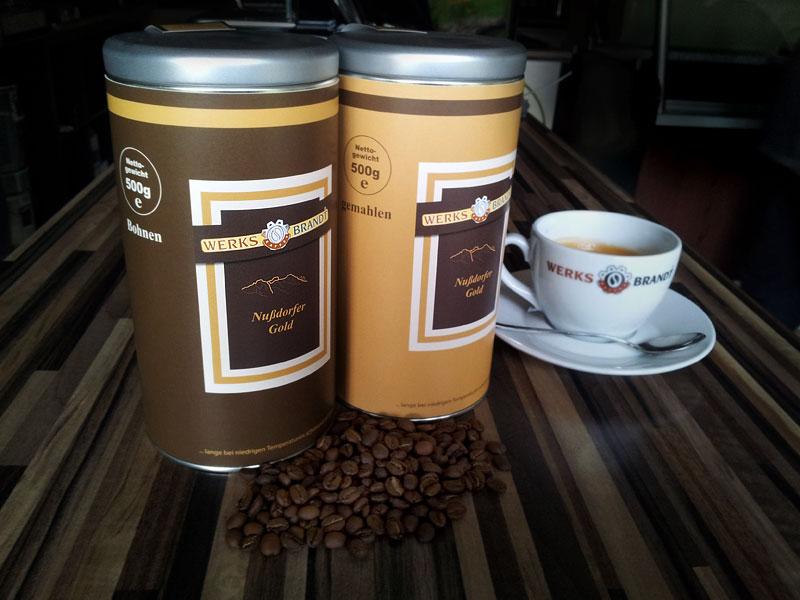 WERKSBRANDT Kaffeerösterei - Kaffeeladen am Dorfweiher - Nussdorfer Gold in Dosen