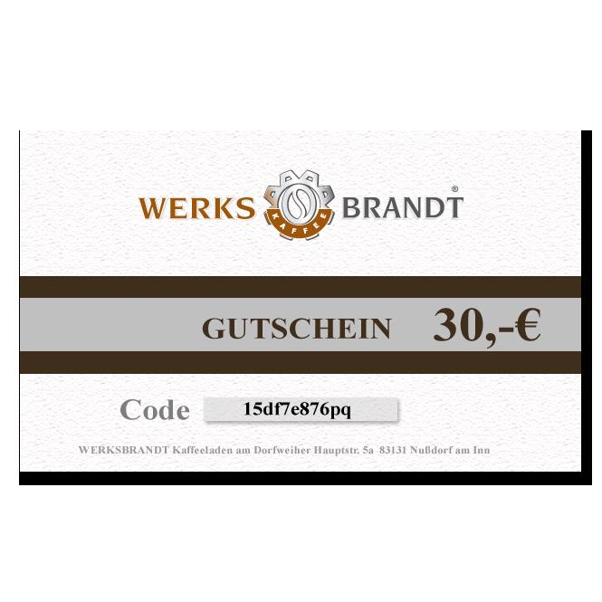 GUTSCHEIN 30,- EURO